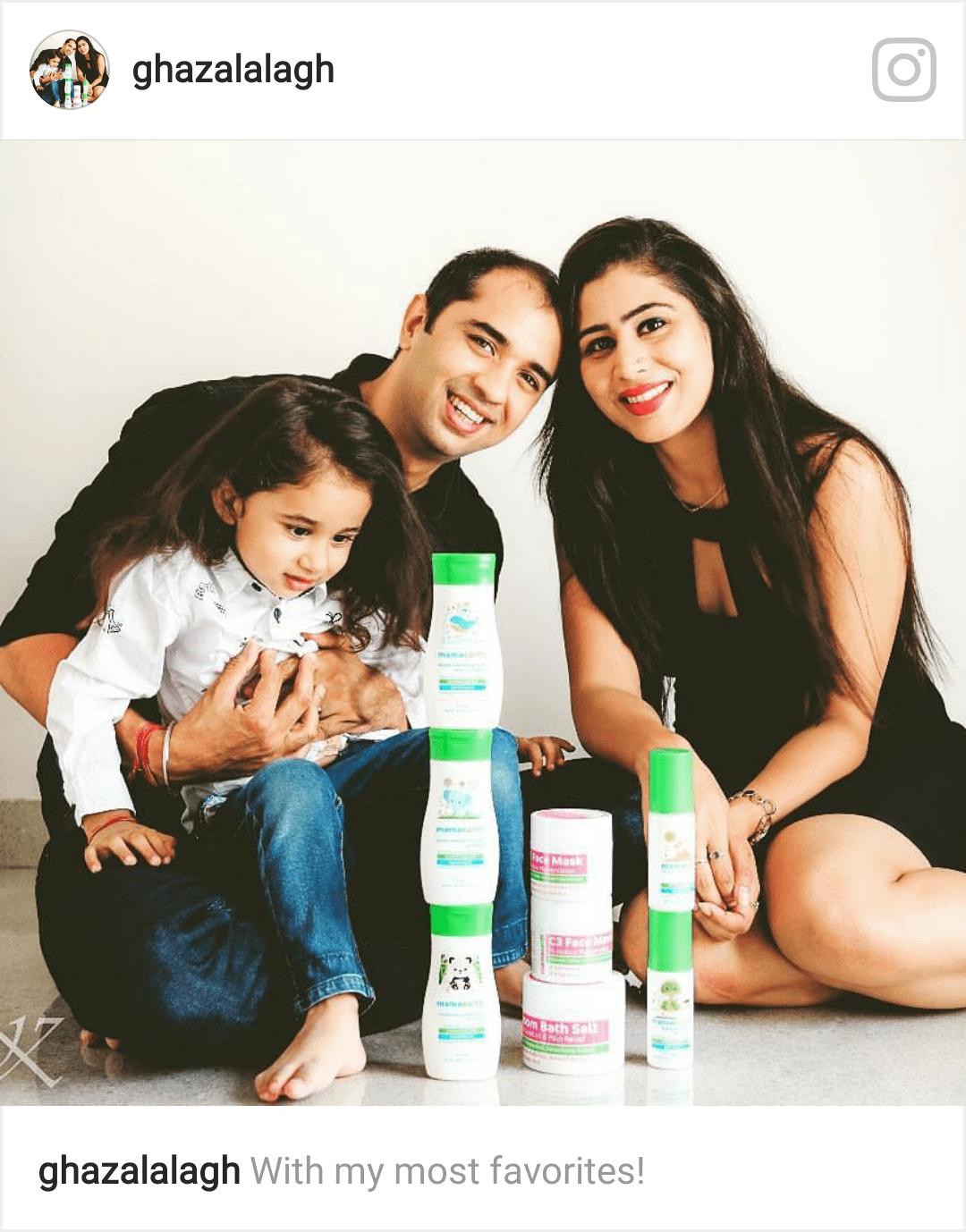 Ghazal's 2 families :)