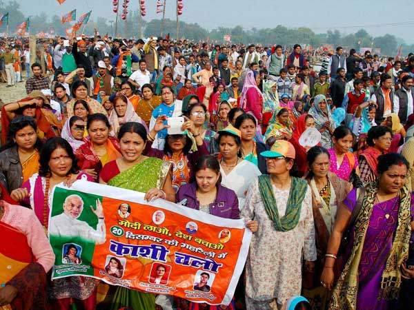 Common women taking part in political events