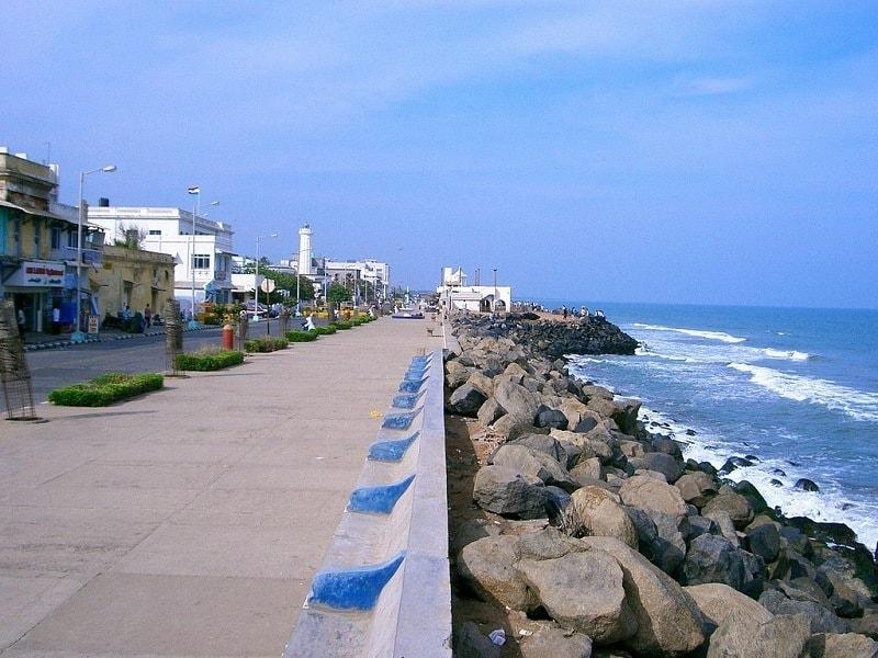 Cobblestoned streets of Pondicherry