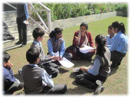 Brainstorming Session With School Children Before A Theatre Workshop
