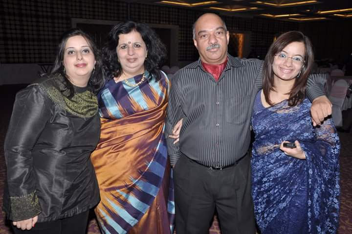 Supriya with her husband, Sandeep Chadha and daughters, Aastha and Aakanksha