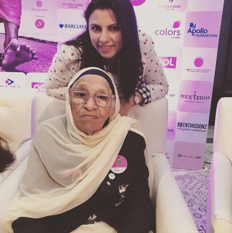 With Mann Kaur who is the Pinkathon Mascot