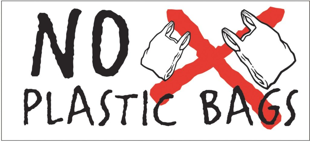Plastic bags are bad for the environment