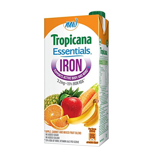 Boost your iron levels with Tropicana Essentials iron