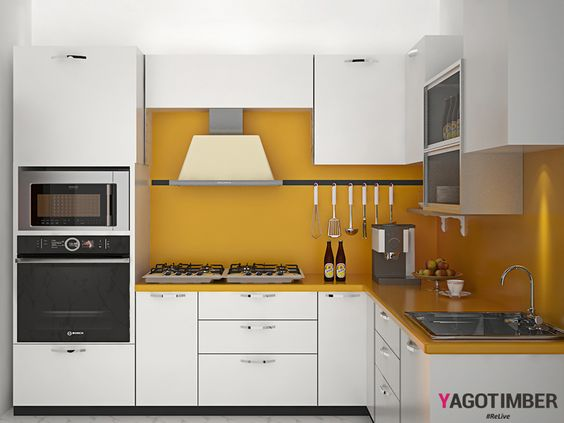 Modular kitchens are an excellent way for storage.
