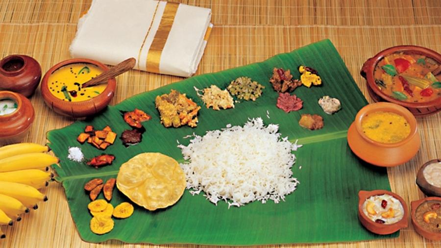 authentic Kerala thali, BananiVista
