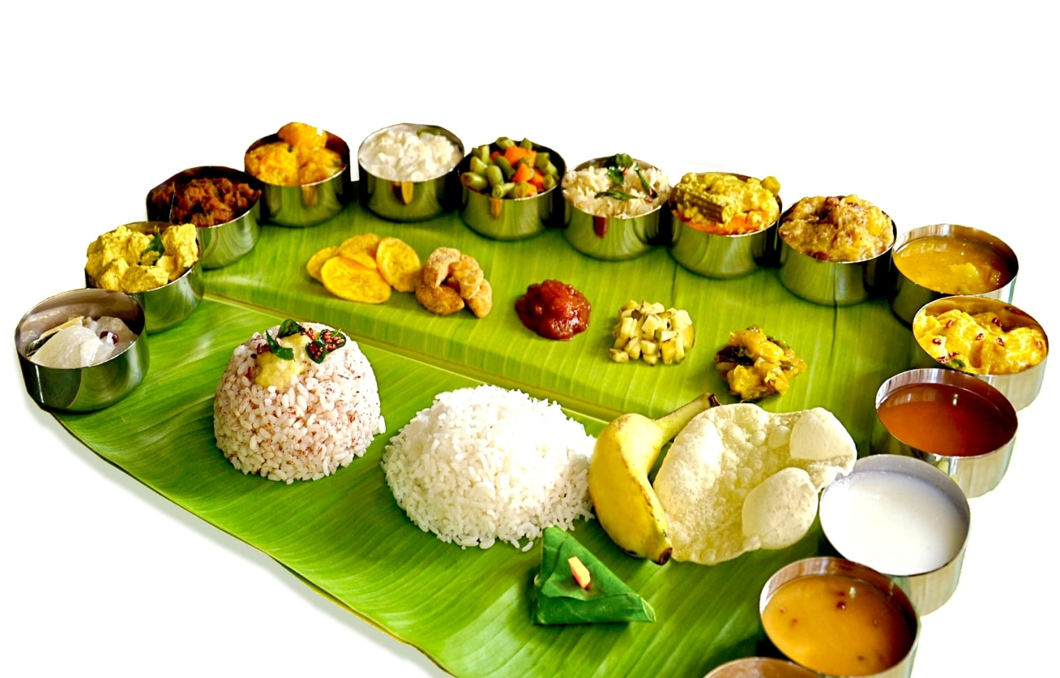 different items of Kerala thali, BananiVista