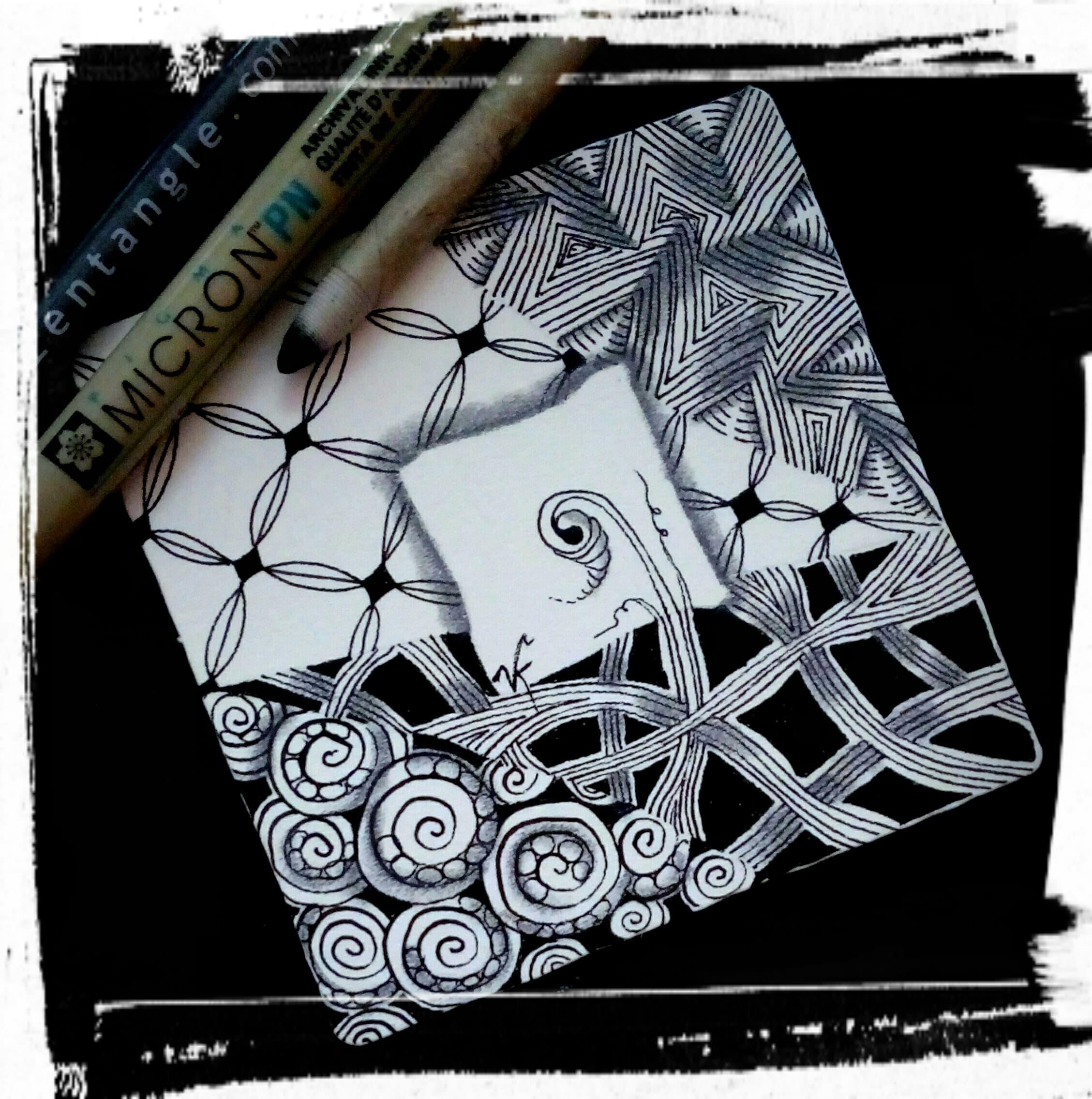 Beautiful Zentangle Tile