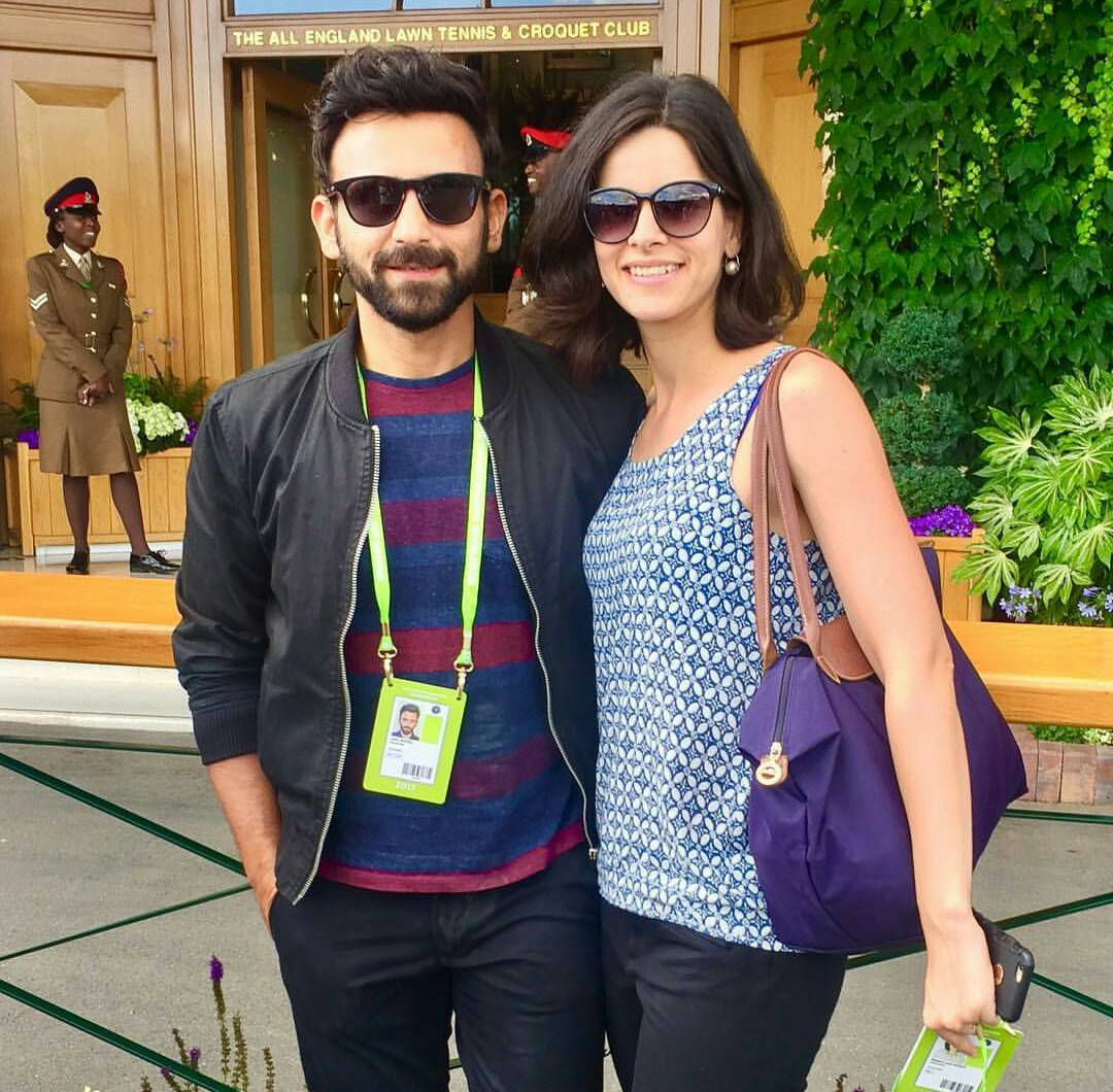 Jatin with his wife Lara