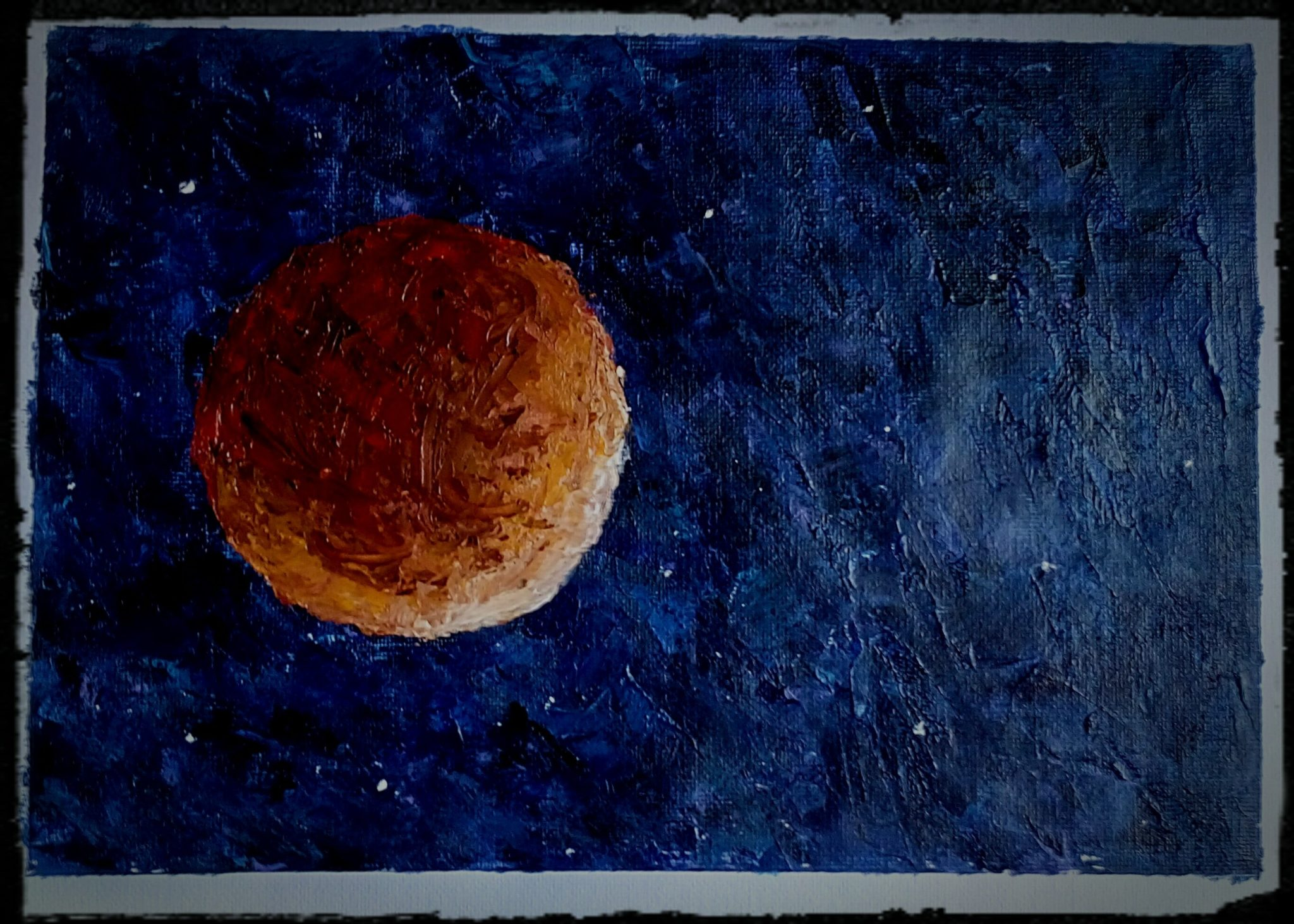 Blood moon inspired by recent Lunar Eclipse