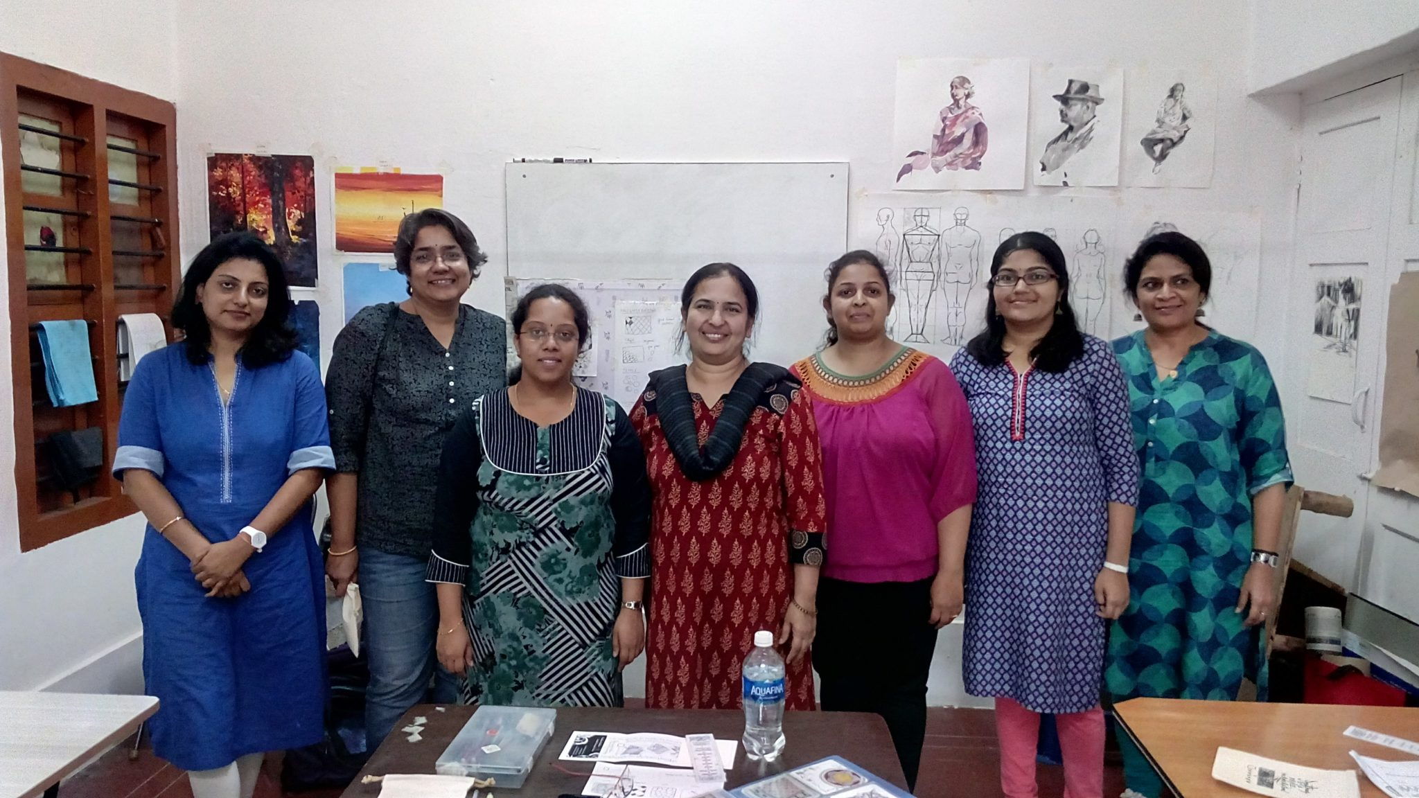 Vandana with her students