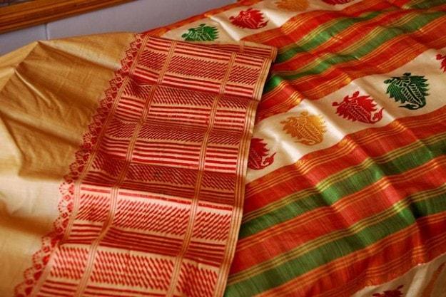 Assam's golden silk saree