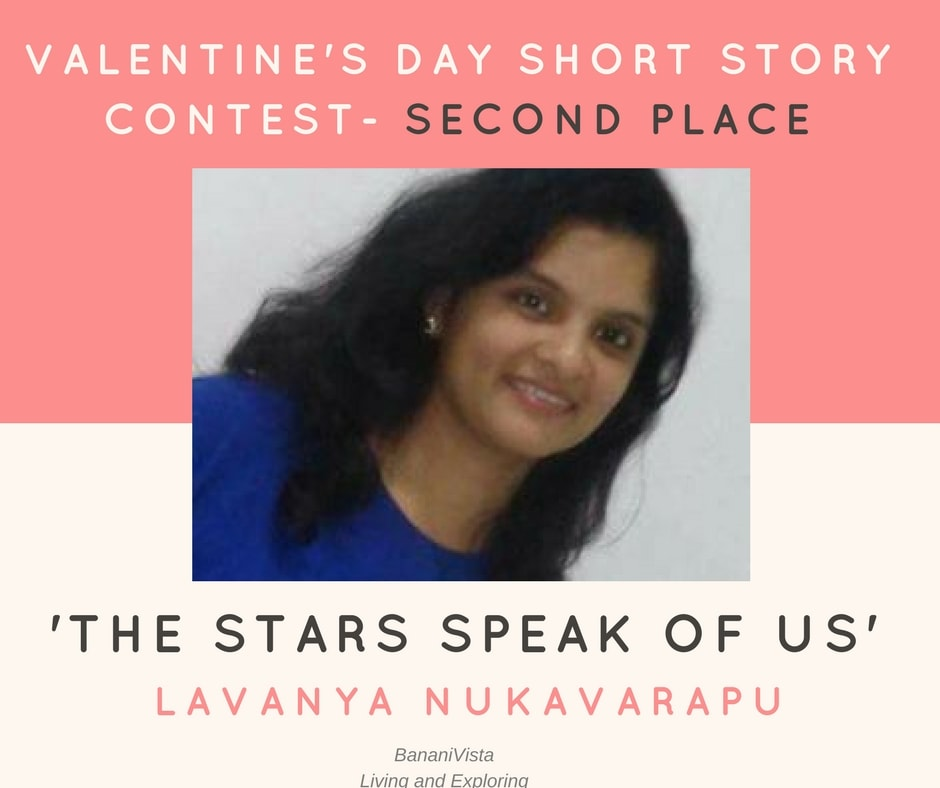 Lavanya Nukavarapu stood second in the valentine day short story contest conducted by BananiVista.