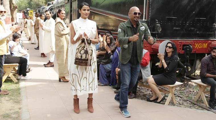 Designer Samant Chauhan showcasing Muga through his work