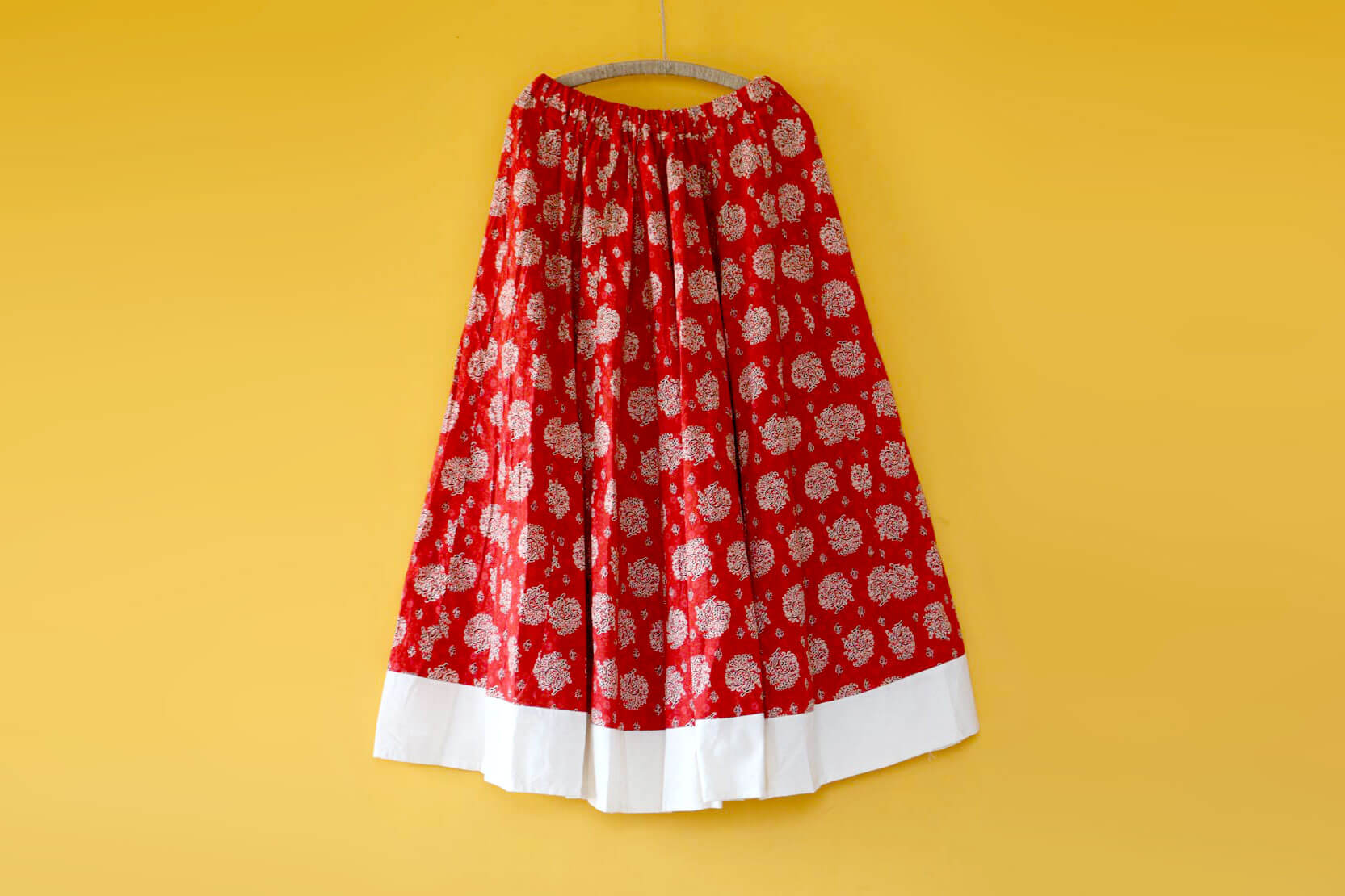 Long skirt with Rajasthani prints