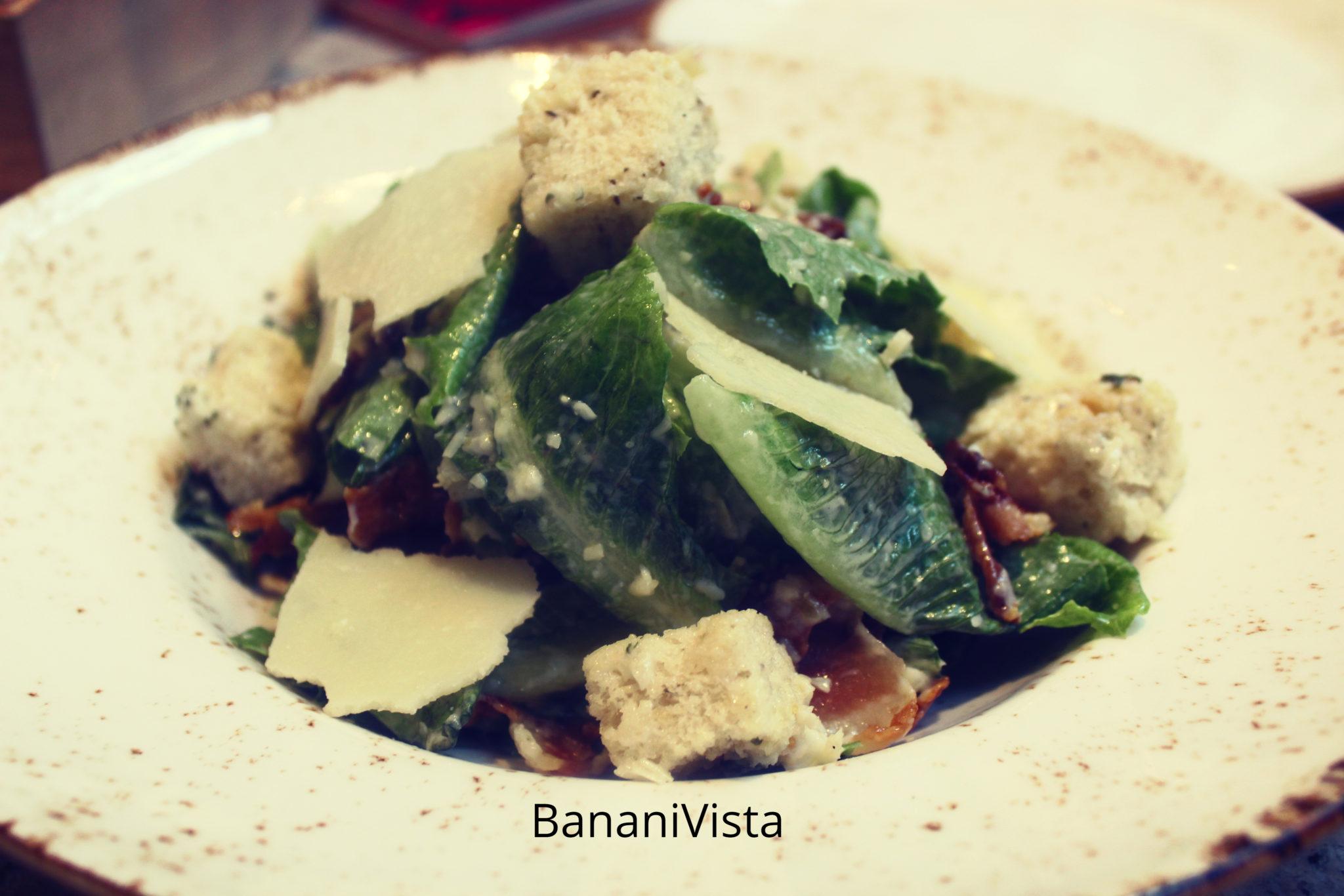 Classic Ceasar Salad, Menu, BananiVista