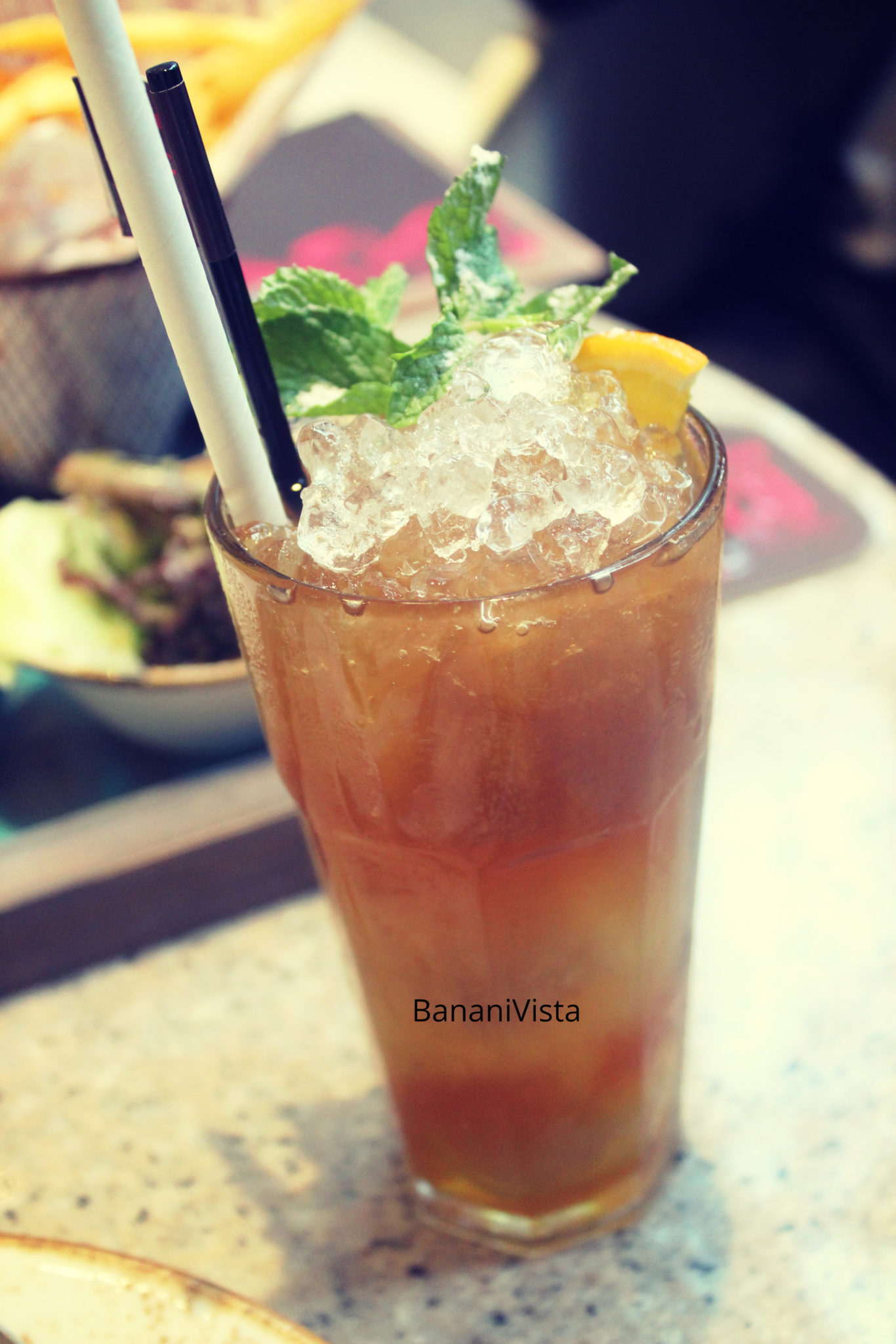 Passion Fruit Iced Tea, Menu, BananiVista