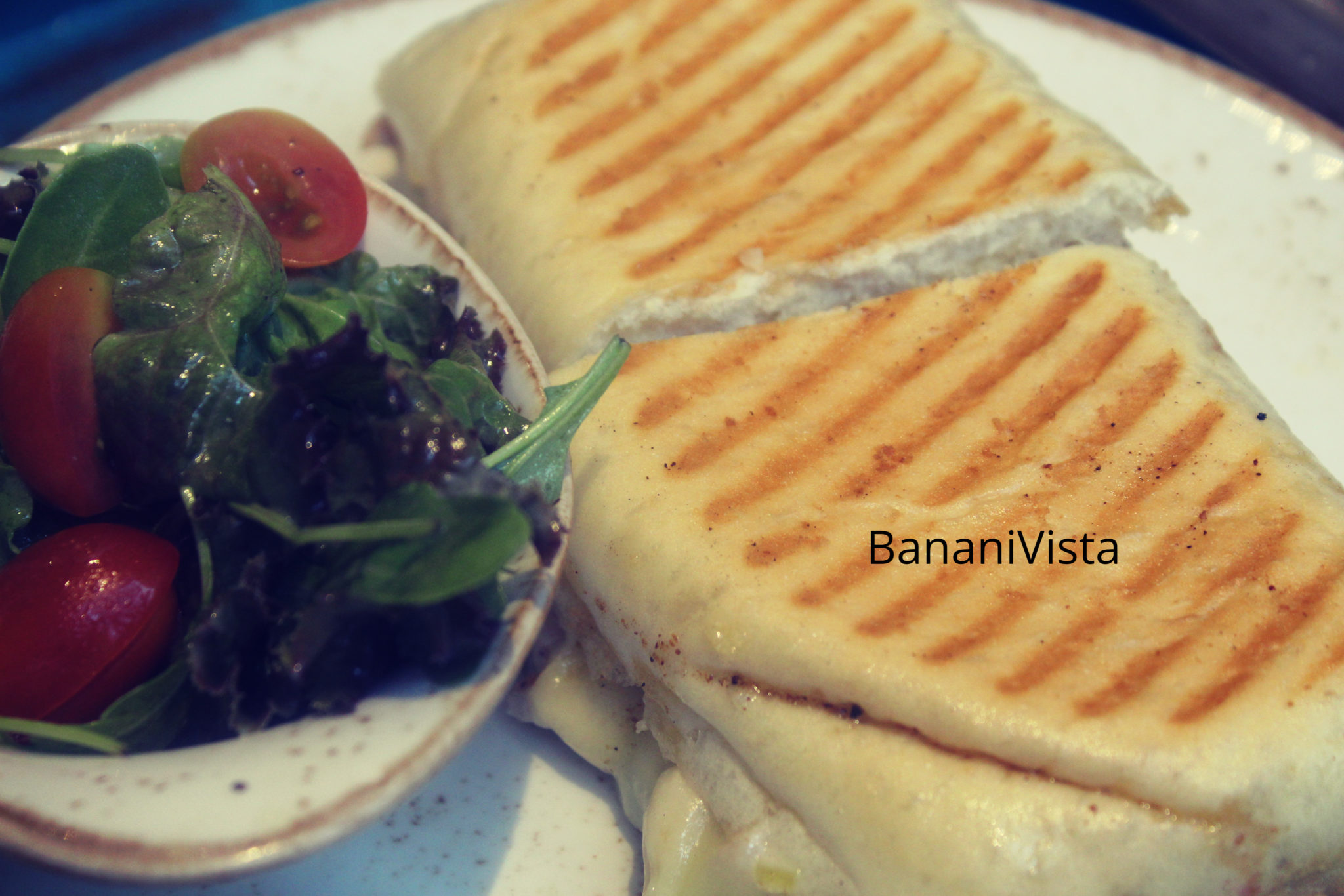 Chicken and cheese sandwich, Menu, BananiVista